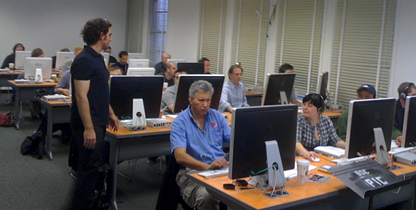 A training session, from Avid's site