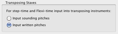transposing staves