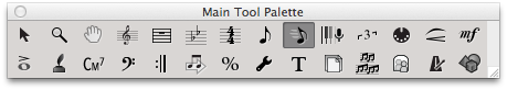 The one and only choice for the main tool palette in Finale 2014