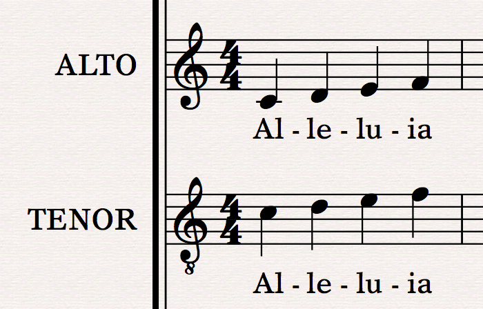understanding octave transposing clefs in sibelius scoring notes. Black Bedroom Furniture Sets. Home Design Ideas