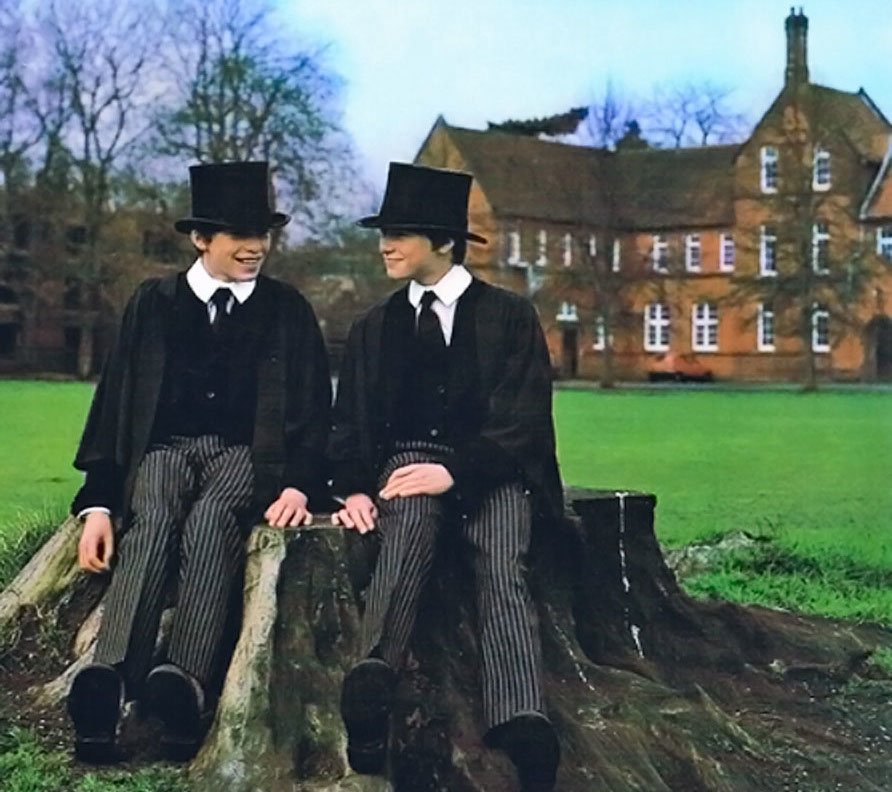 Ben and Jonathan Finn at King's College School in Cambridge, in 1980
