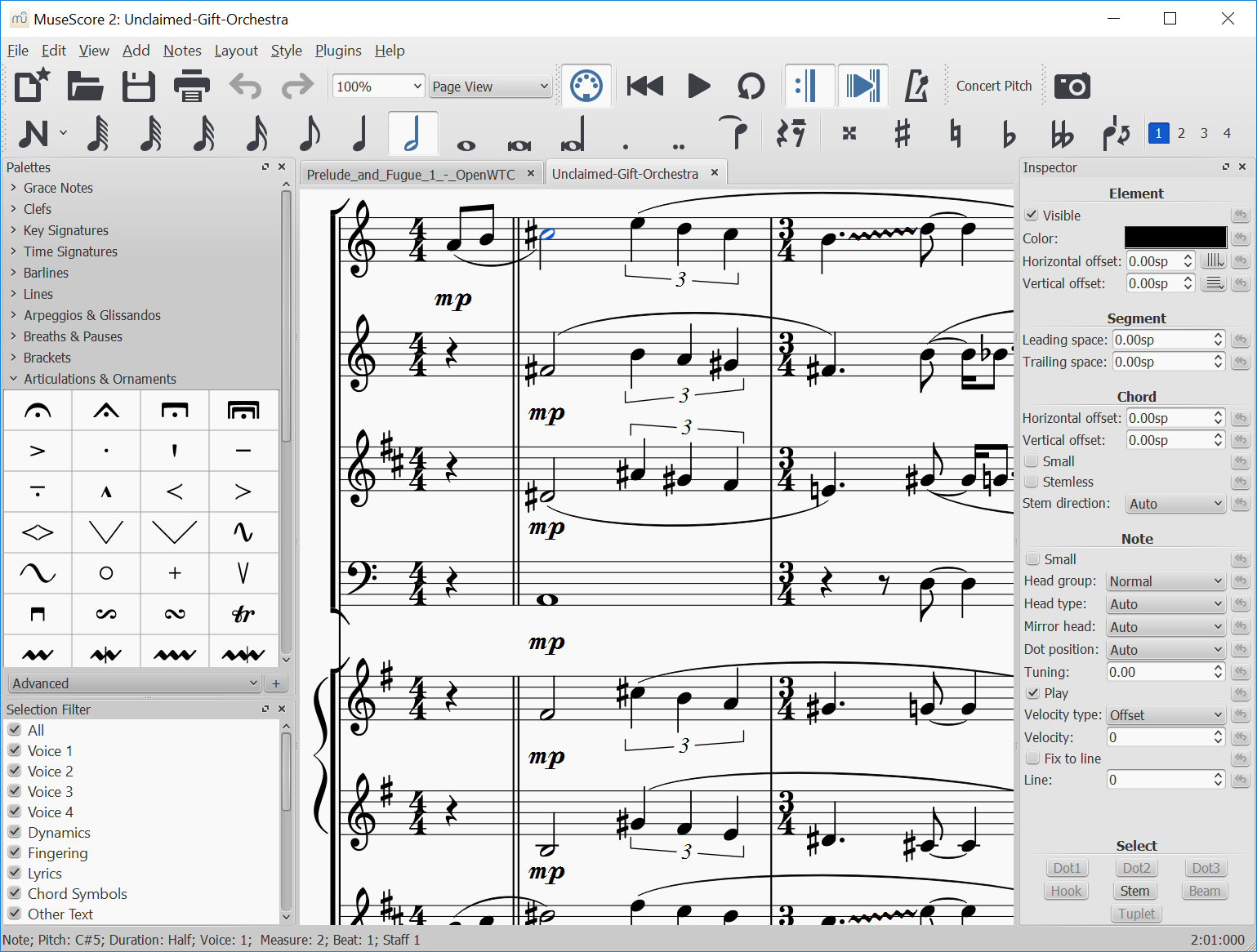 MuseScore 2 1 released - Scoring Notes