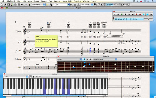 Sibelius 6 small screenshot