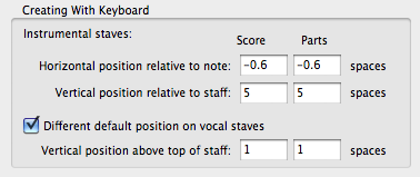 Switch on 'Different default position on vocal staves'
