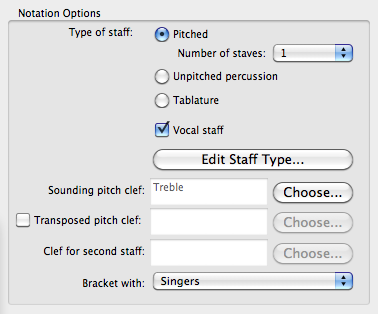 Switch on the 'Vocal staff' option in the Edit Instrument dialog