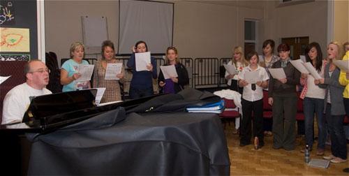 Rainbow Connection Youth Choir in rehearsal