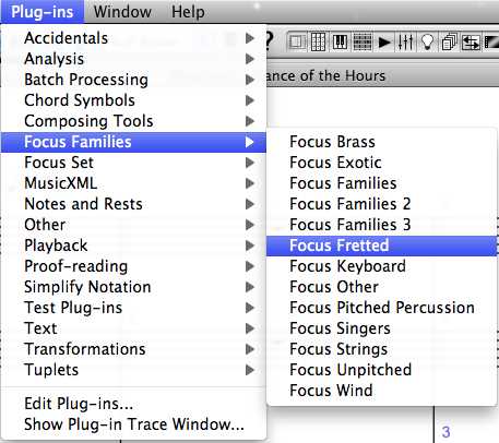 The Focus Families suite of plug-ins