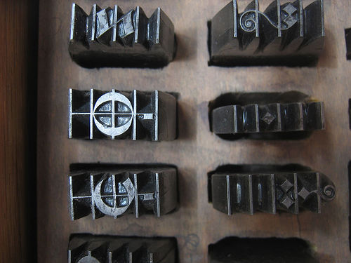 Movable music type (Courtesy hithro on Flickr)