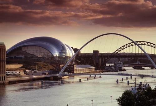 The Sage Gateshead, and the river Tyne