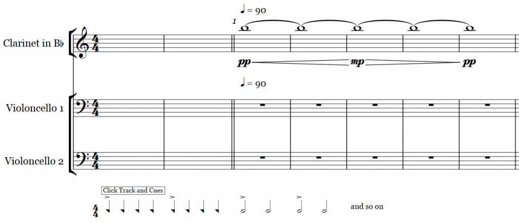 how to add cue notes in sibelius