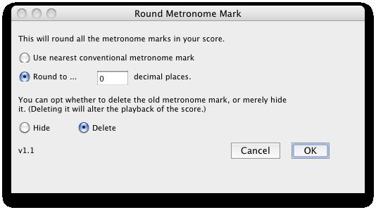 Round Metronome Marks