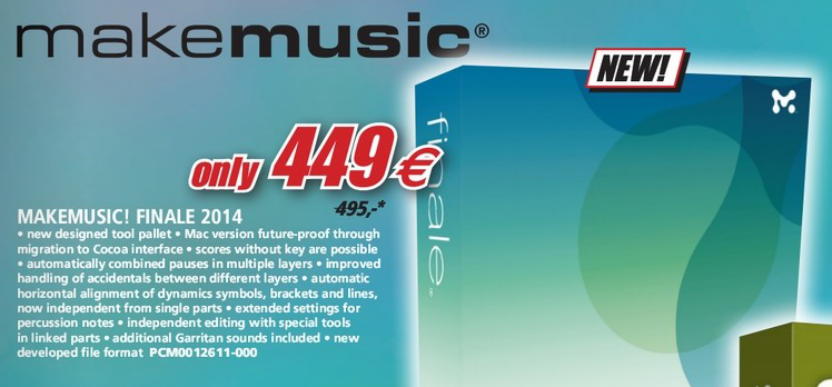 A screenshot taken from Music Store Professional's 2014 product catalog, before an online version of it was modified