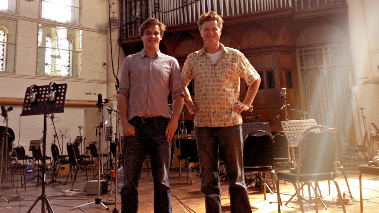 Avid's technical support specialist Joe Pearson and principal software engineer Michael Ost, at AIR Studios in London in August 2013 (Courtesy: Avid)