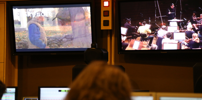 Recording Michael Bacon's score to 'Good Fortune — The Story of Morgenthau' (Photo credit: Max Lewkowicz)