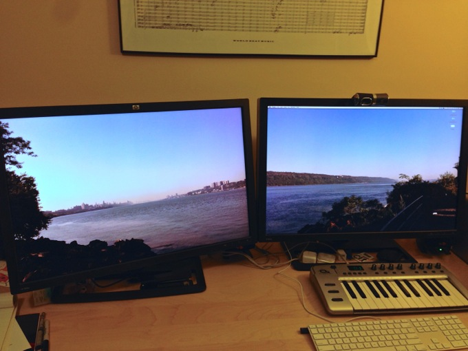A view of the Hudson River, from a Mac Pro