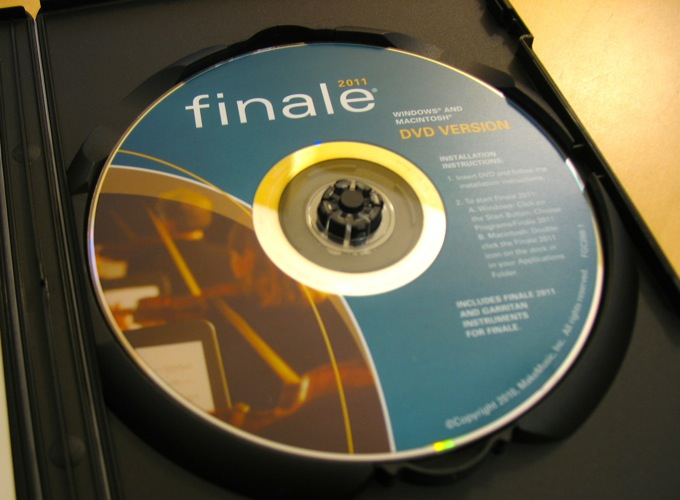 One of only two DVDs used during this whole process (Microsoft Office was the other)