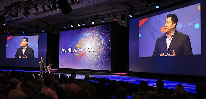 He's Everywhere: Louis Hernandez, Jr. announcing a new Avid vision