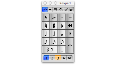 The numbers on the Keypad will indicate the voice(s) to which you've assigned objects