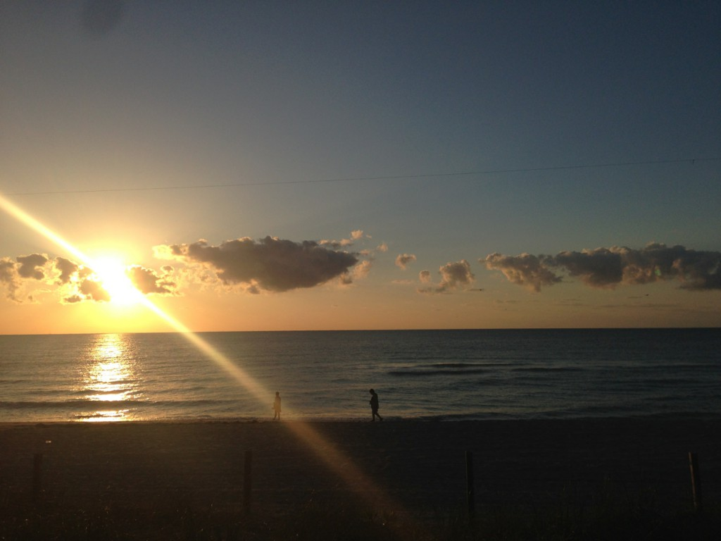 Miami Beach, host to the 2014 MOLA conference, at sunrise, yesterday