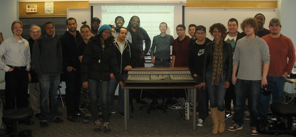 That's me to Ernie Jackson's left, with his class after my presentation in April
