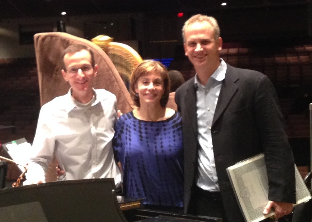 Me, JoAnn Falletta, and LPO music director Carlos Miguel Prieto, after a rehearsal of Aaron Copland's Third Symphony