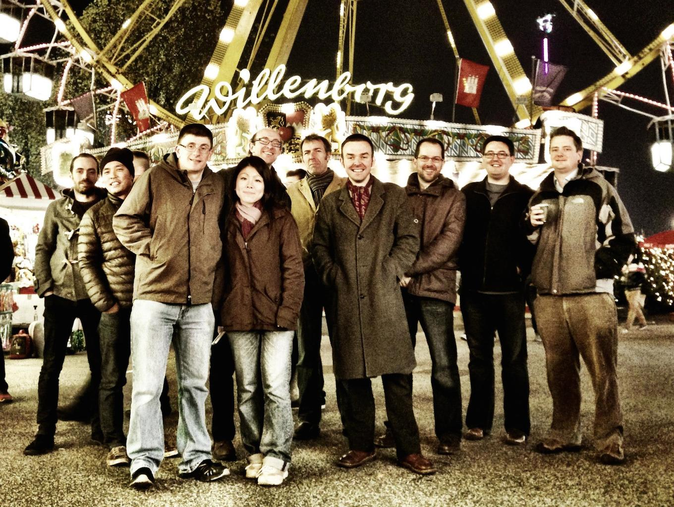 The Steinberg notation team during its first trip to Hamburg in November 2012 (Courtesy Daniel Spreadbury; photo by Anthony Hughes)