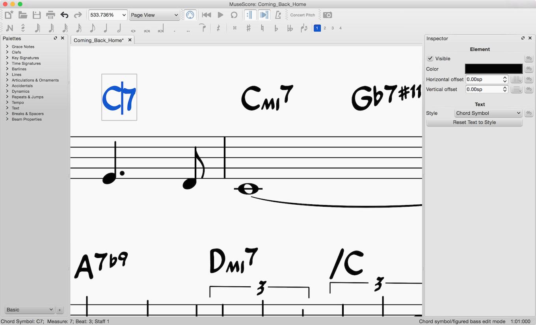 Chord symbol input in MuseScore 2.0