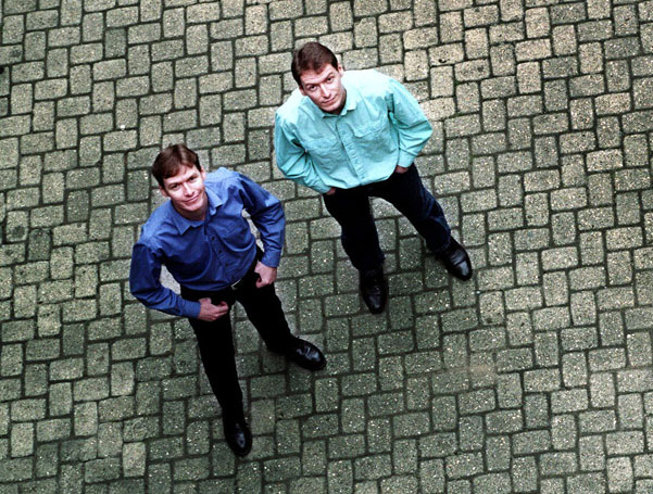 Ben and Jonathan Finn from a press photo in 2000
