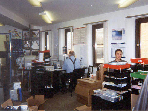 First Sibelius office in Cambridge, UK, c. 1998: Andrew Pearson, Rob Berry
