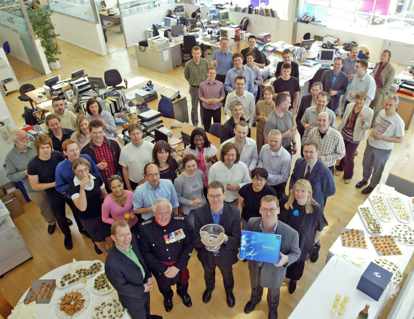 Sibelius staff in 2005 after receiving The Queen's Award for Enterprise