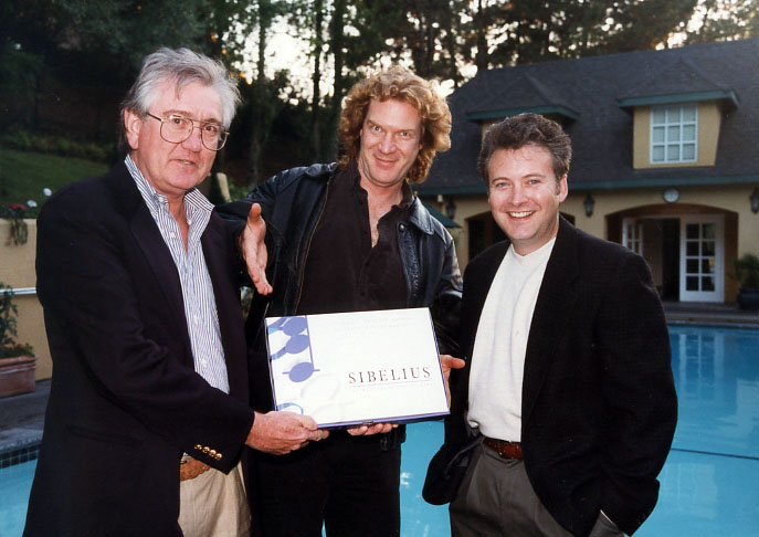 Windows release of Sibelius in US, Oct. 1998: Bill Reilly, Marty Walker, Larry Marchese