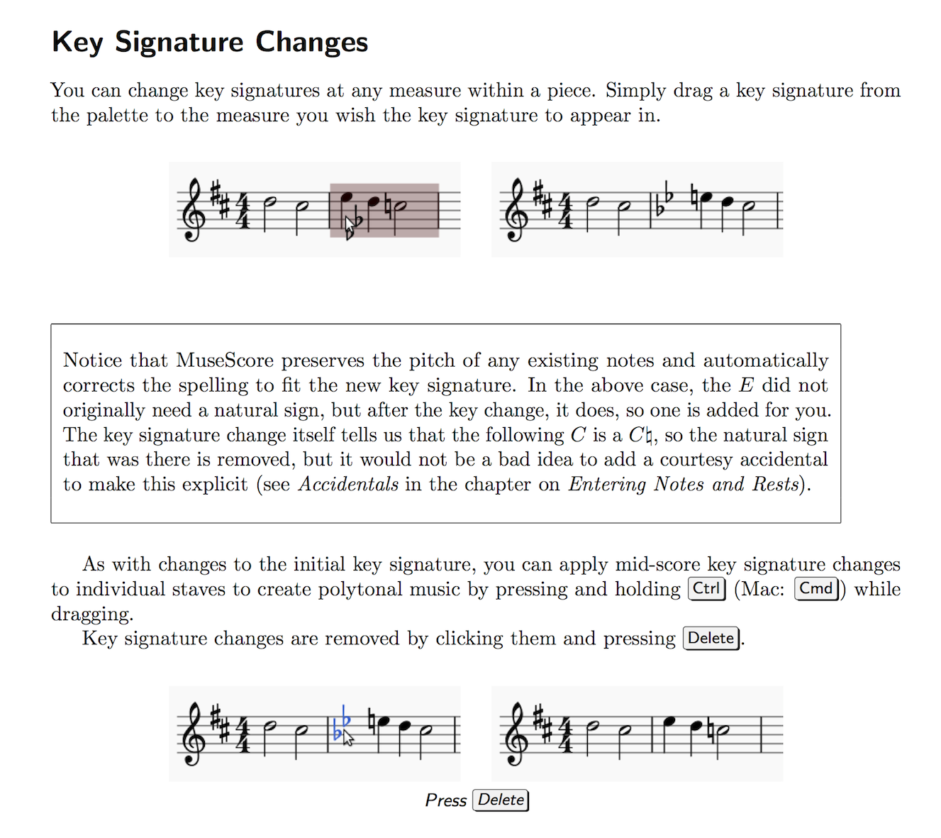A section from Mastering MuseScore with an inset