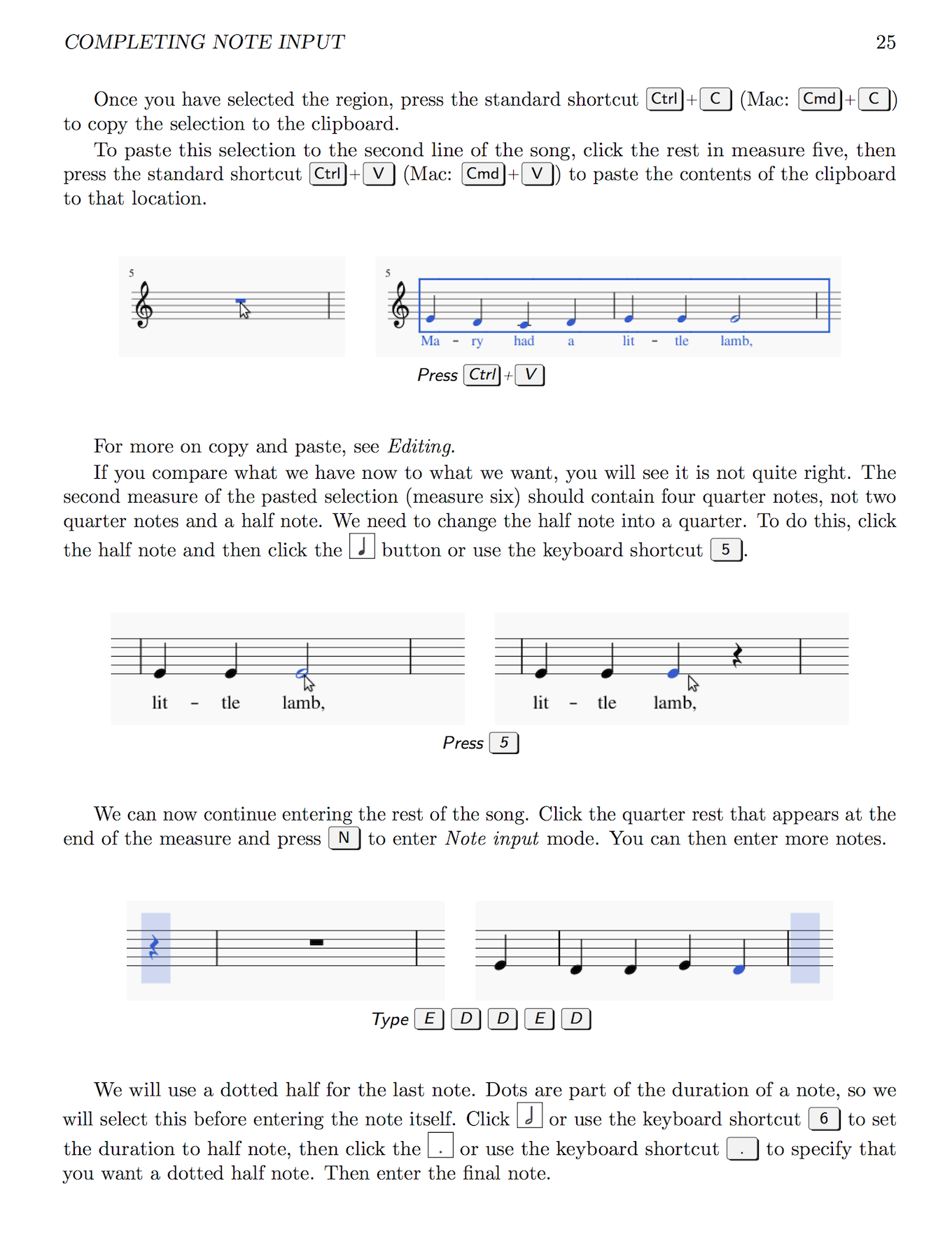 "A page from ""Mastering MuseScore"" on creating your first score"