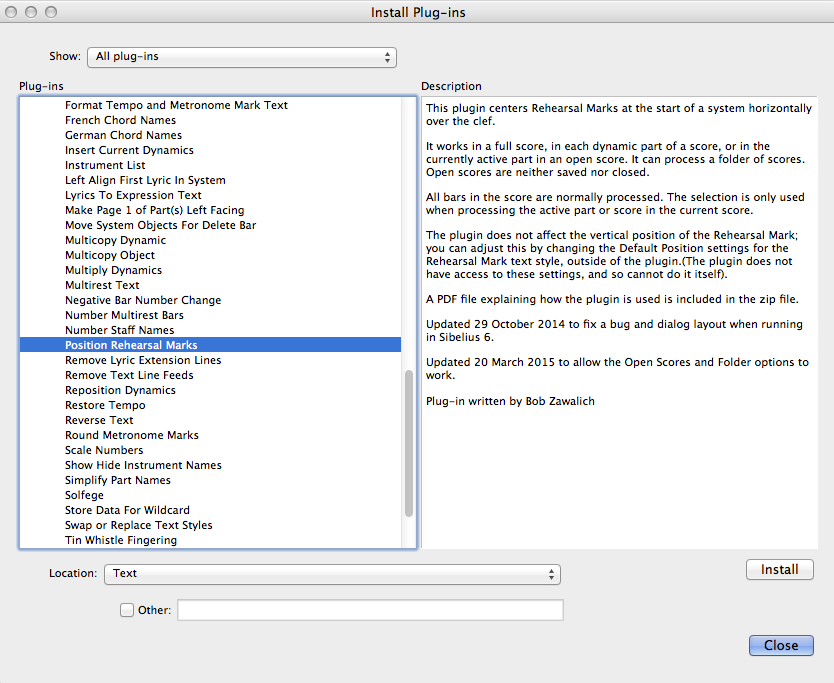 Sibelius 7 added the ability to install plug-ins directly, but there's more that could be done