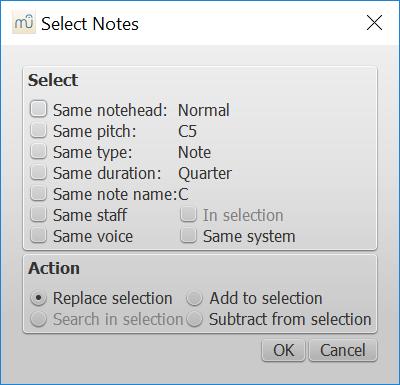 Select / More