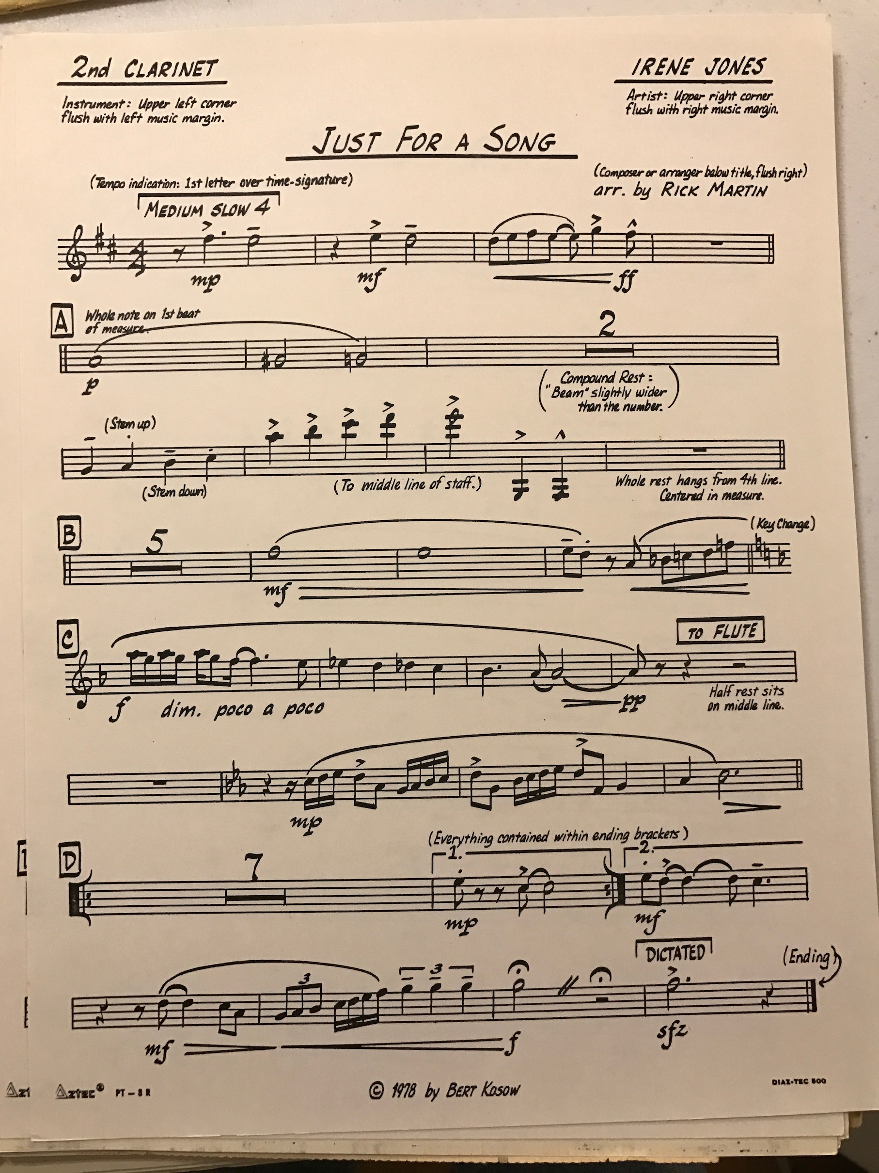 A few brief thoughts about the size of music paper - Scoring