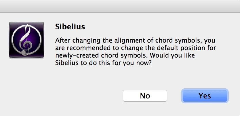 Left Align Chord Symbols In Sibelius Scoring Notes