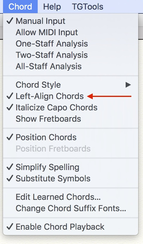 DJA\'s Notes: Left-align chord symbols - Scoring Notes