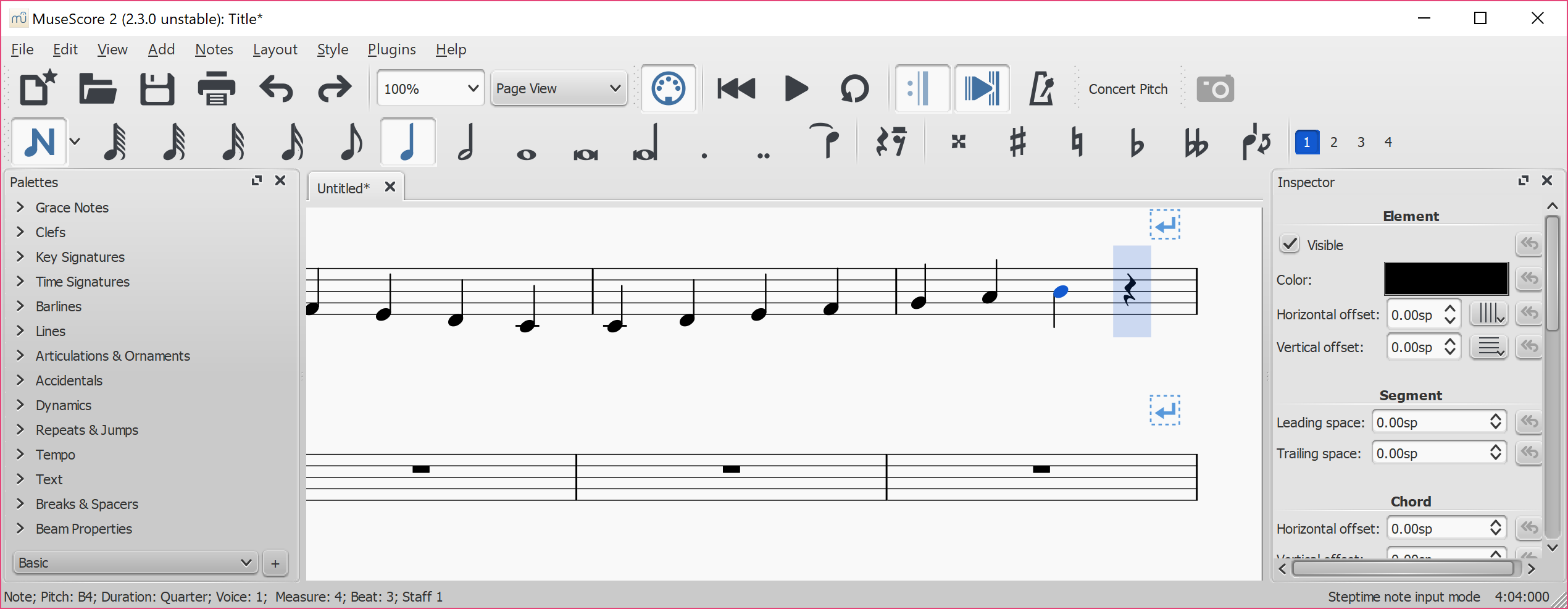 MuseScore 2 3 released with new extension facility, other
