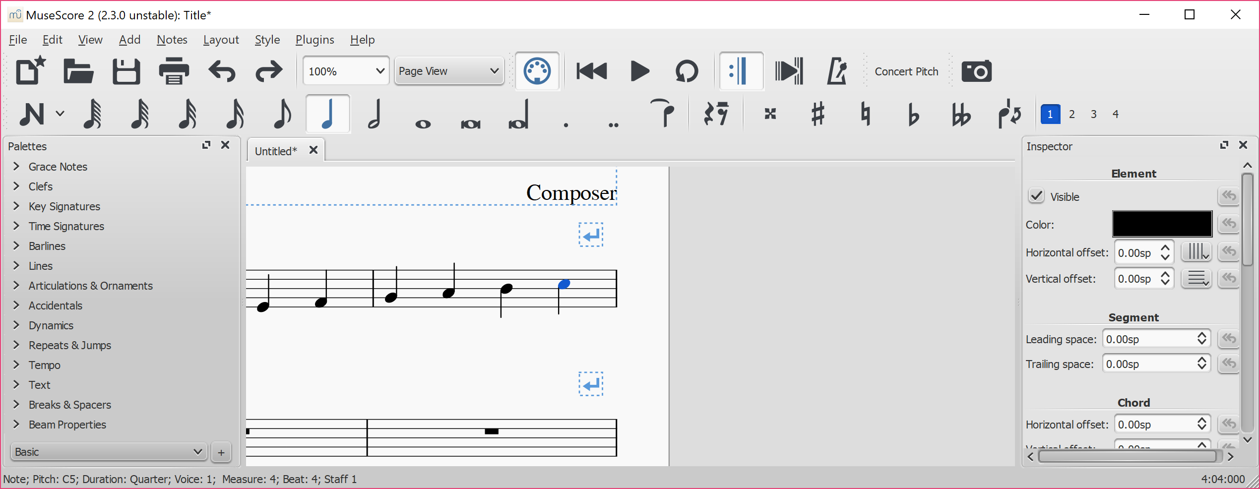 how to change instruments in musescore 2