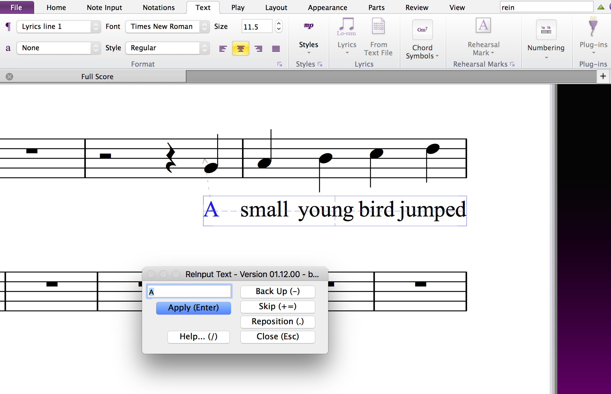 Text plug-ins for Sibelius: Add Fingering to Notes in Sibelius 7+