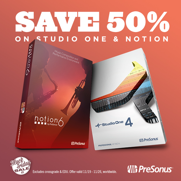 Black Friday 2018 deals for music notation software and