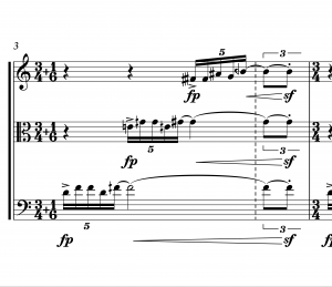 Irrational time signature with open-ended triplet