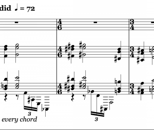 Irrational time signature with no tuplet markings
