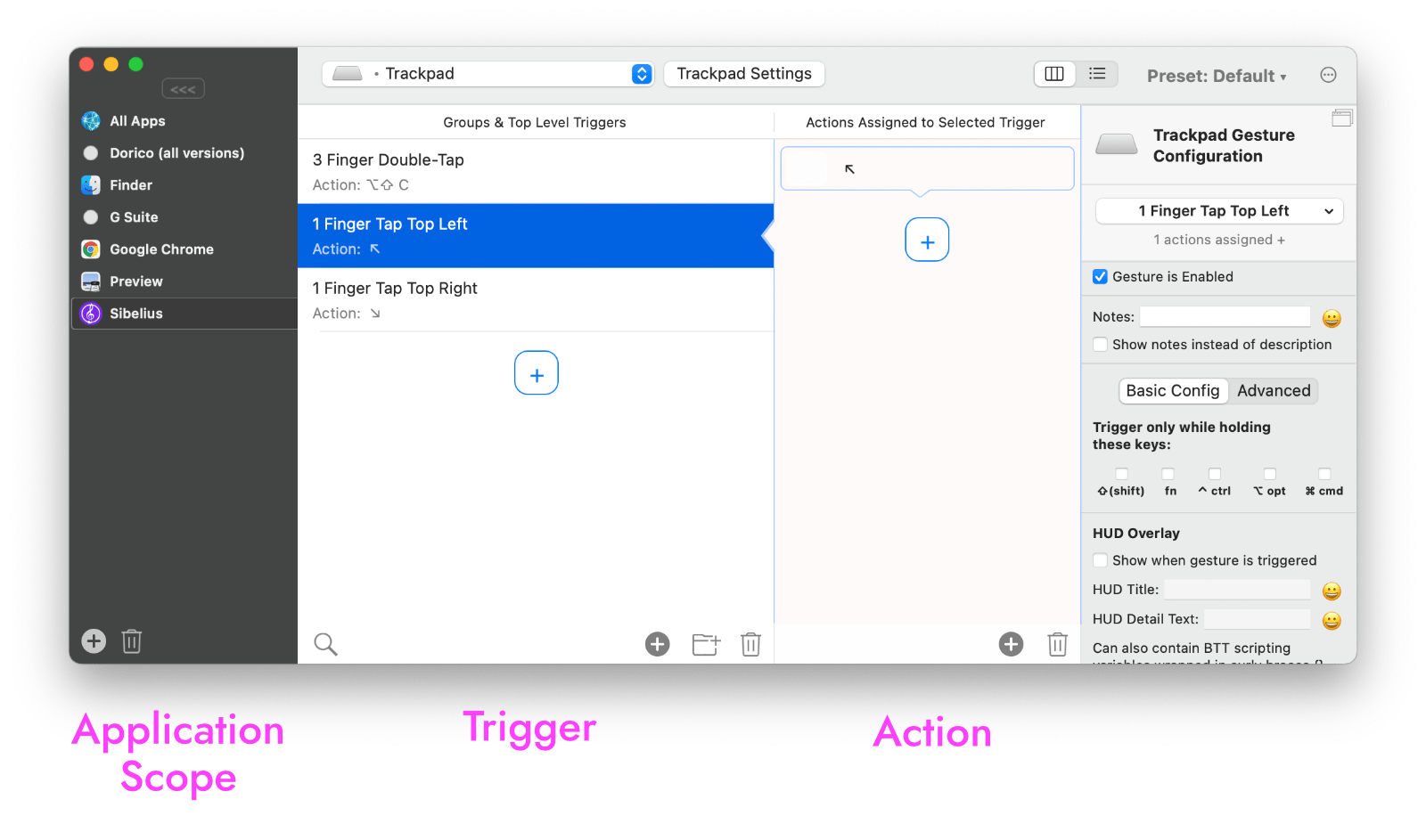 BetterTouchTool Previous Page automation