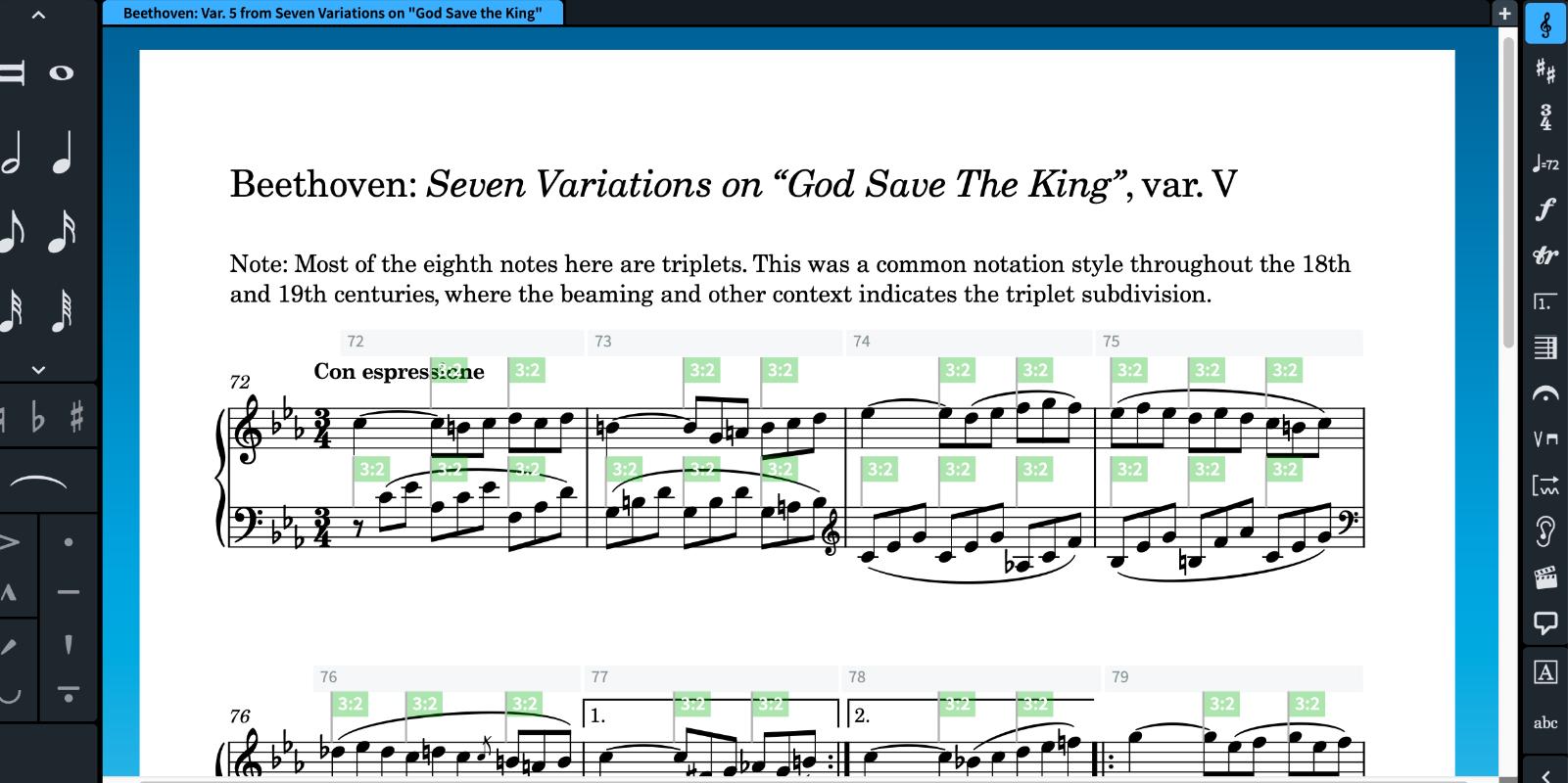 Score excerpt viewed in Dorico
